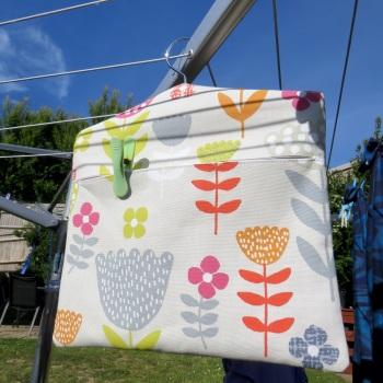Floral peg bag