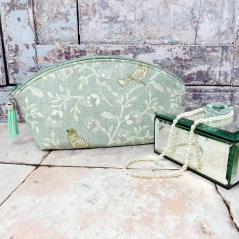 Mint  green make up bag
