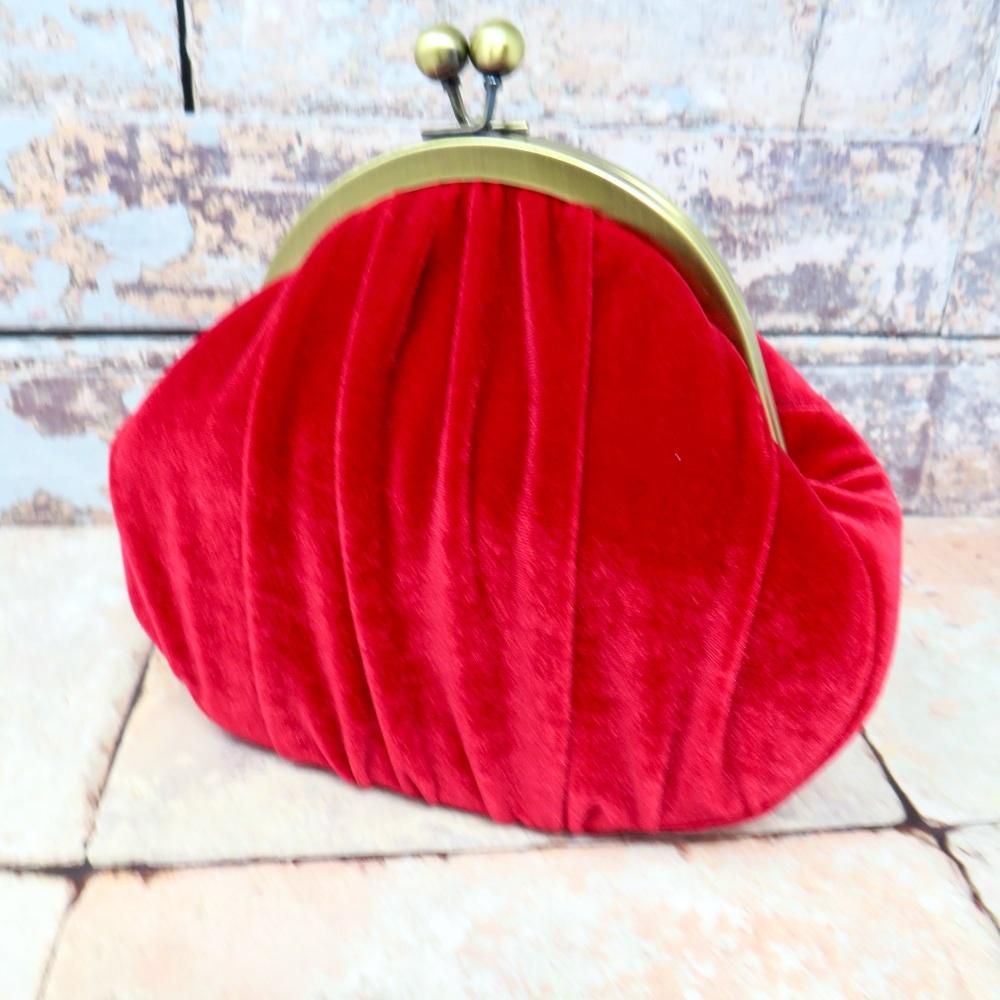 Red velvet bag