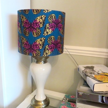 Butterfly Print drum lampshade