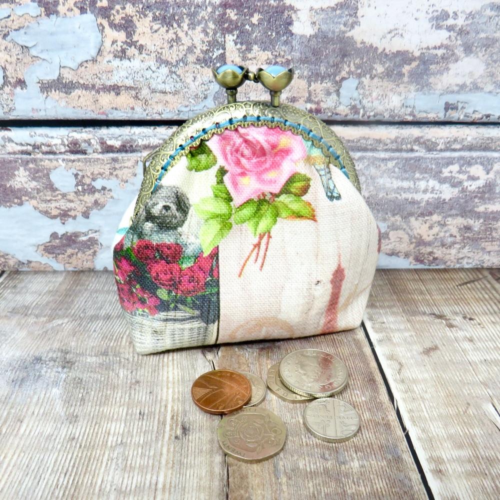 Paris themed coin purse