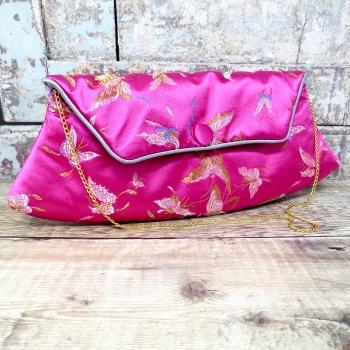 Pink Satin clutch