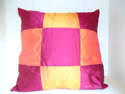 Handmade silk cushion