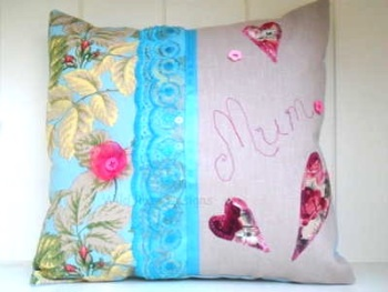 Handmade 'Mum' cushion