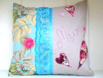 Handmade 'Mum' cushion