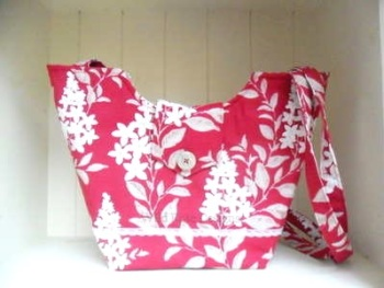 Raspberry fabric Tote
