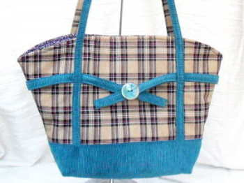 'Ruby'  tote handbag in teal