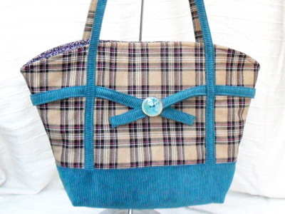 'Ruby' handmade tote handbag