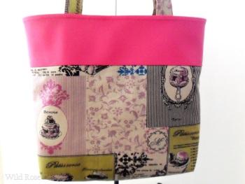 Tote handbag in pink