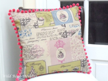 'Patisserie' cushion cover