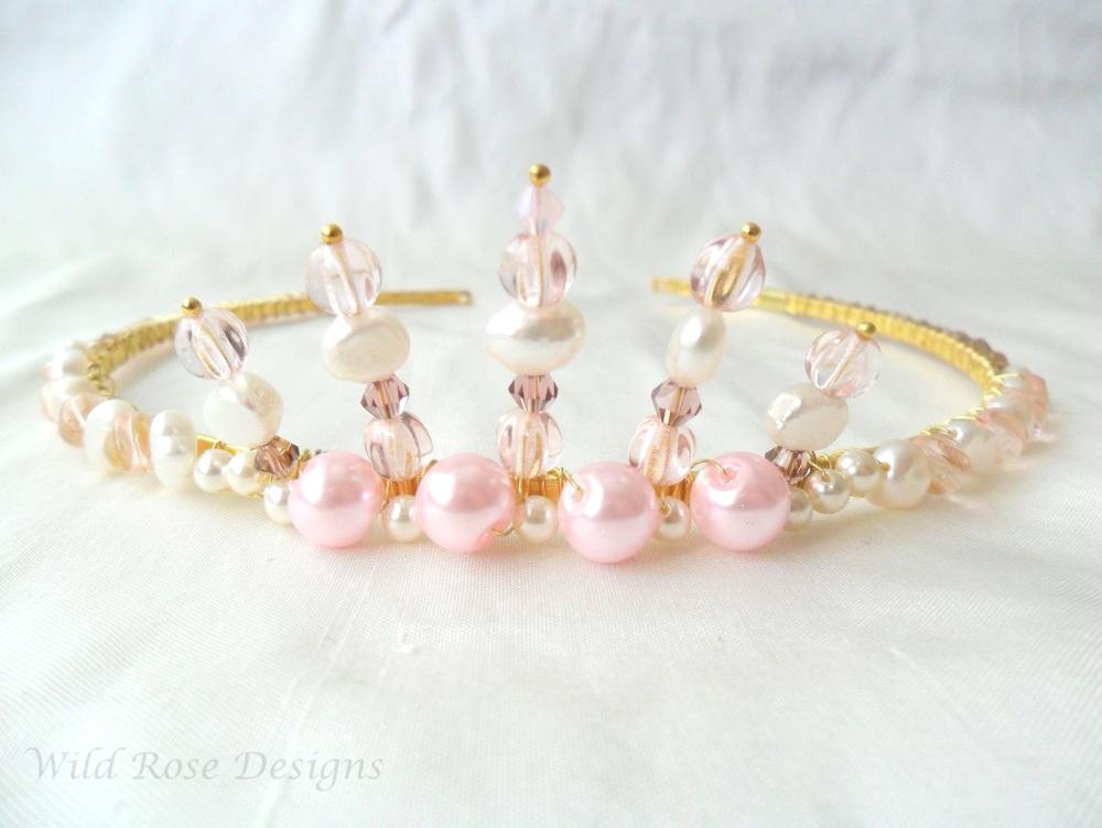 Pink Crown Tiara