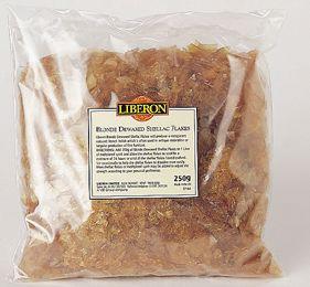 Blonde de-waxed Shellac Flakes (250g)