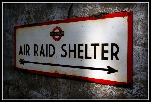 London Underground Air Raid Shelter Vintage Air Raid