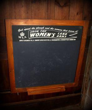 Land Army Slate Chalkboard