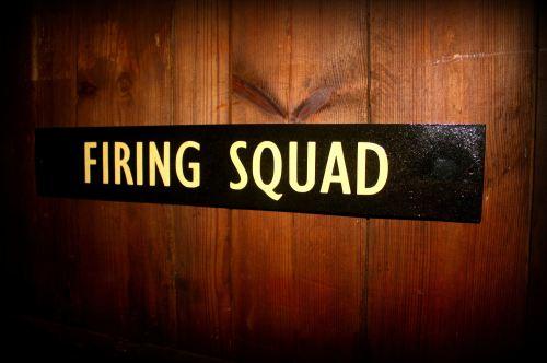 Firing Squad Door Plaque