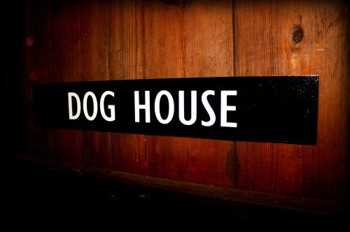 Dog House Door Plaque
