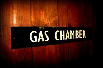 Gas Chamber door plaque