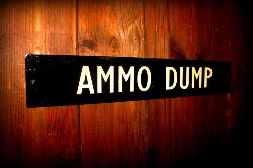 Ammo Dump door plaque
