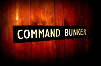 Command Bunker door plaque