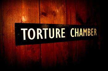 Torture Chamber door plaque