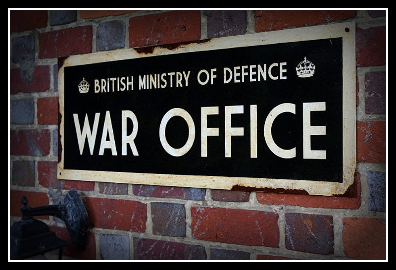 War Office Sign Wwii War Office War Office Ministry Of Defence Sign Steel Sign Reproduction