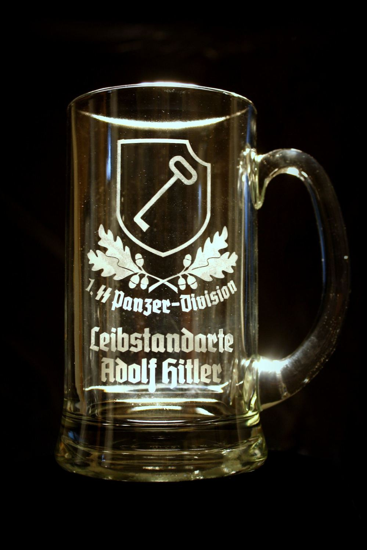 Hand Etched Nazi Glassware Nazi Beer Glass Leibstandarte
