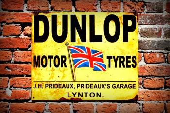 Dunlop Garage Sign