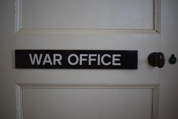 The War Office Door Plaque