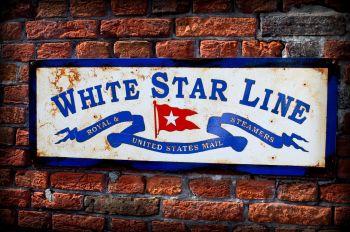 White Star Line Sign