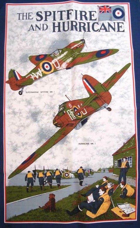 Spitfire & Hurricane Tea Towel