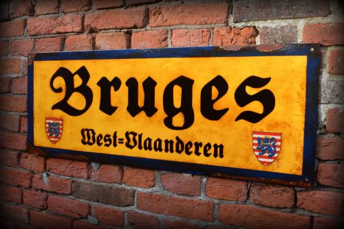 Bruges Vintage City Sign