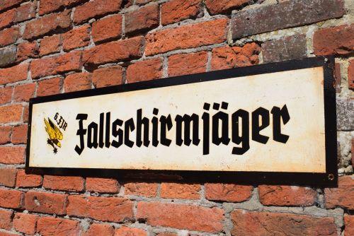 Fallschirmjäger Barracks Sign
