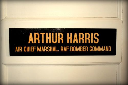 Arthur Harris Office Door Plaque