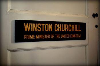 Winston Churchill Office Door Plaque