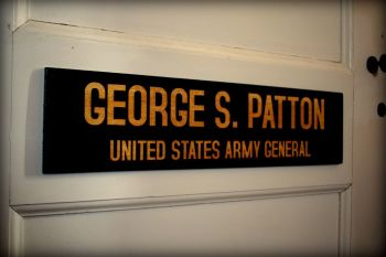 George Patton Office Door Plaque