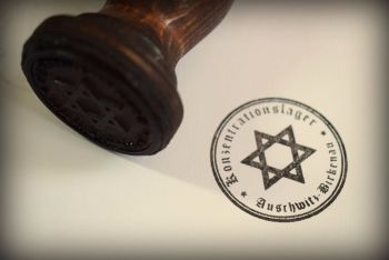 KZ Auschwitz-Birkenau Rubber Stamp
