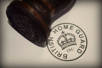 British Home Guard Rubber Stamp