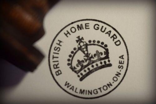British Home Guard Walmington On Sea Rubber Stamp