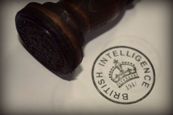 British Intelligence Rubber Stamp