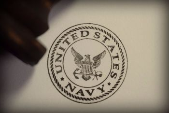 United States Navy Rubber Stamp