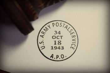 US Army Postal Service Rubber Stamp