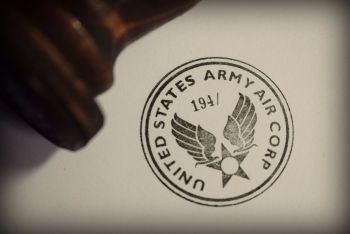 USAAC Rubber Stamp