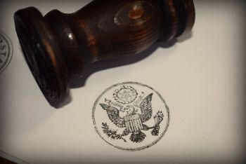 United States Great Seal Rubber Stamp
