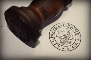 US Censored Rubber Stamp