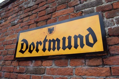 Dortmund Vintage City Sign