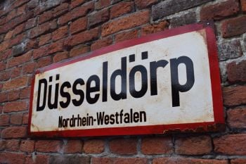 Dusseldorf Vintage City Sign