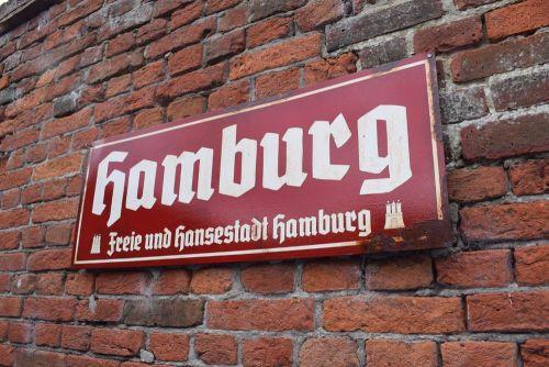Hamburg Vintage City Sign