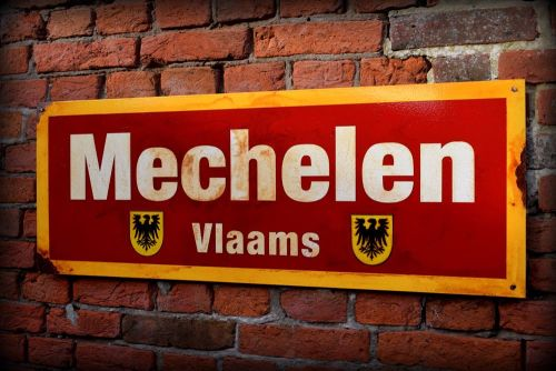 Mechelen Vintage City Sign