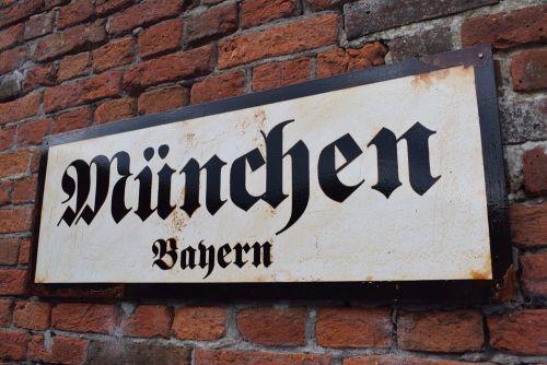 Munich Vintage City Sign