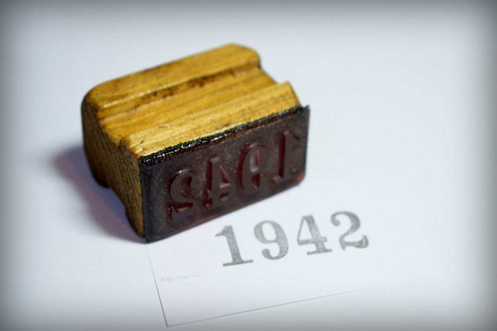 1942 Rubber Stamp